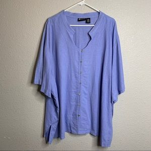 Linen Knit Blouse 34 W